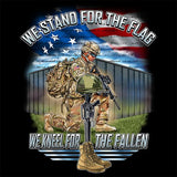 We Stand For The Flag, We Kneel For The Fallen (Front Print)
