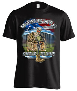 Stand For The Flag, Kneel For The Fallen (Front Print)