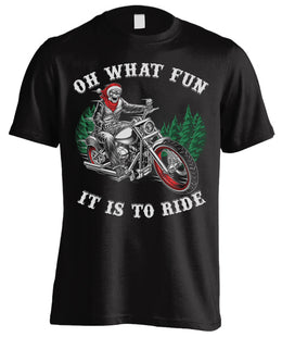 Oh What Fun It Is To Ride Christmas (Front Print)