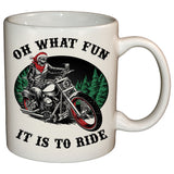 Oh What Fun It Is To Ride Christmas Mug