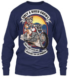 T-shirt - Only A Biker Knows Why A Dog Sticks His Head Out (Front Print)