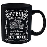 Respect Is Earned Loyalty is  Appreciated Mug