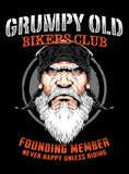 Grumpy Old Bikers Club Founding Member