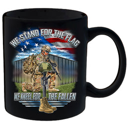 Stand For The Flag, Kneel For The Fallen Mug