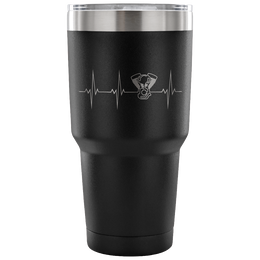 Heartbeat of A Biker Insulated Tumbler