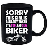 Taken By a Cool and Sexy Biker Mug