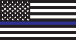 "Thin Blue Line American Flag - 7"" Decal"