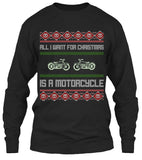 All I Want For Christmas Is A Motorcycle Biker's Ugly Christmas T-shirt