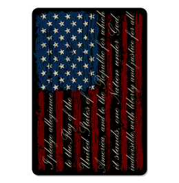 "Pledge of Allegiance American Flag 4"" Decal"