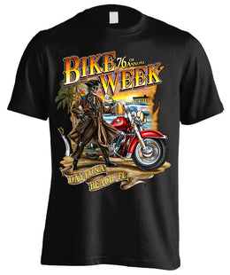 2017 Daytona Beach Bike Week Pirate's Cove - 76th Anniversary (Front Print)