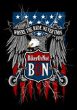 T-shirt - BikerOrNot Flag & Eagle (Ladies)