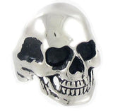 Stainless Steel Casting Bald Head Skull Ring