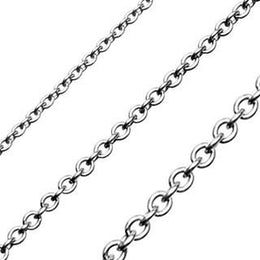 Stainless Steel Round Link Necklace - 22 inch
