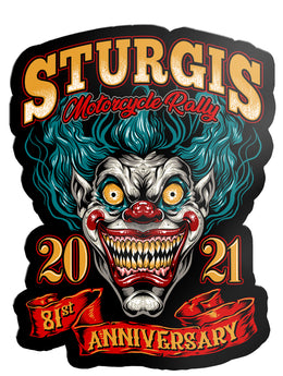 "2021 Sturgis Rally Clown 80th Anniversary 7"" Decal"