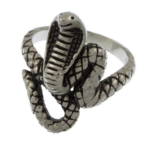 Stainless Steel Coiled Cobra Cast Ring