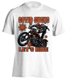Covid Sucks, Let's Ride T-shirt (Front Print)