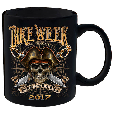 2017 Daytona Beach Bike Week Pirate Skull - 76th Anniversary Mug