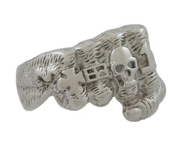 Stainless Steel Skull Fist Ring