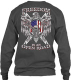 T-shirt - Freedom Is An Open Road Eagle