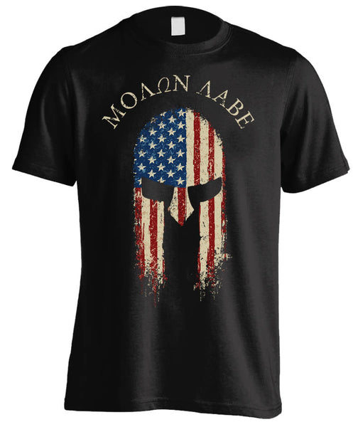 "Molon Labe ""Come and Take Them"" Spartan T-shirt (Front Print)"