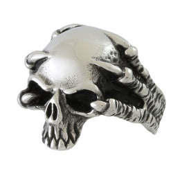 Stainless Steel Ghost Crawler Skull Ring