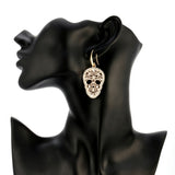 Crystal Sugar Skull Earrings