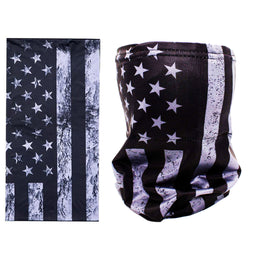 Gray American Flag Riding Face Mask