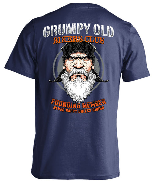 Motorcycles Boats /& Laptops Trucks Skull Society Grumpy Old Bikers Club Founding Member Never Happy Unless Riding 7 inch Decal for Cars