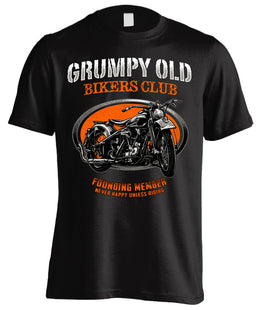 Grumpy Old Bikers Club Motorcycle (Front Print)