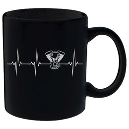 Heartbeat of a Biker Mug