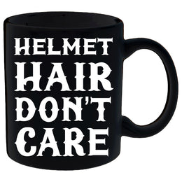 Helmet Hair, Don't Care Mug