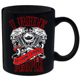 I Ride So I Don't Choke People - V-Twin Engine Mug