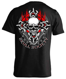T-shirt - Biker Cross & Skull