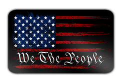 "We The People American Flag 4"" Decal"