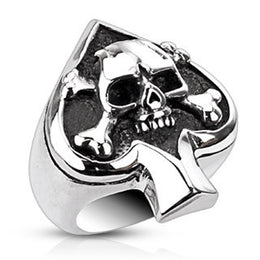 Jewelry - Stainless Steel Spade Crossbone Ring
