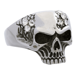 Jewelry - Stainless Steel Stones Skull Ring