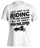 I Just Want To Go Riding And Ignore All My Adult Problems (Front Print)