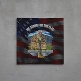 Stand For The Flag, Kneel For The Fallen Canvas Art