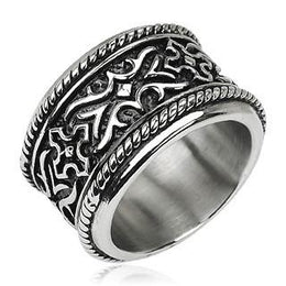 Stainless Steel Knight Armor Ring