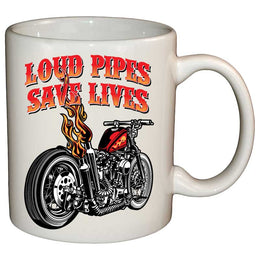 Coffee Mug - Loud Pipes Save Lives Old School Bobber Mug