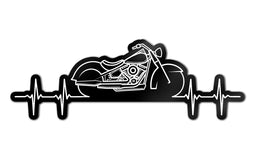 "Motorcycle Heartbeat 4"" Decal"