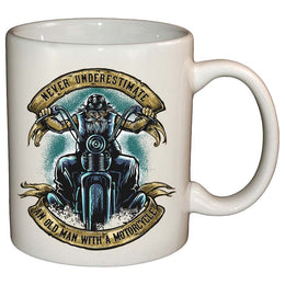 Coffee Mug - Never Underestimate An Old Man With A Motorcycle Mug