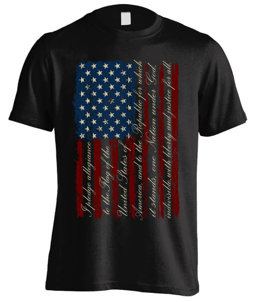 Pledge of Allegiance American Flag (Front Print)