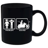 Problem Solved By Motorcycle Mug