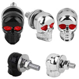 Red Eyed Skull License Plate Bolts