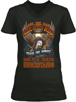 T-shirt - Race The Rain, Ride The Wind (Ladies)