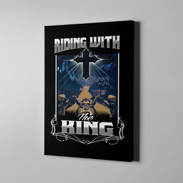 Riding With The King Canvas Art