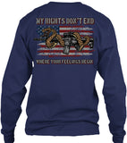 My Rights Don't End Where Your Feelings Begin 2nd Amendment T-shirt