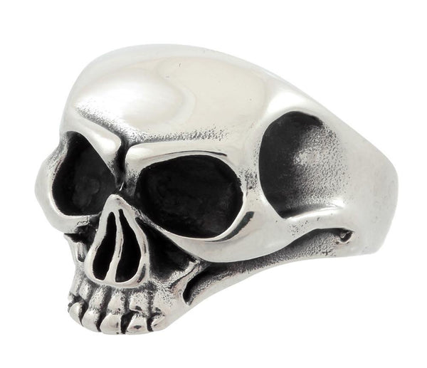 Stainless Steel Jawless Skull Ring