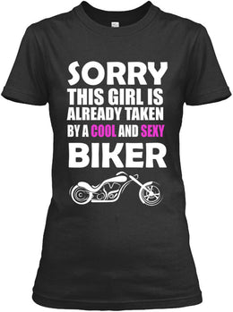 T-shirt - Taken By A Cool And Sexy Biker